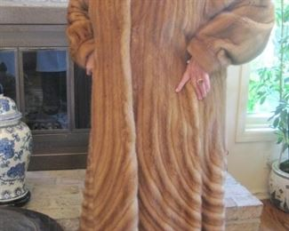 Fabulous Feraud Paris Full Length Fur Coat.