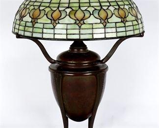 Tiffany Pomegranate Shade Bronze Lamp