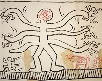 Keith Haring Untitled Original Mixed Media