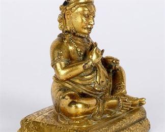 Gilt Bronze Jambhala