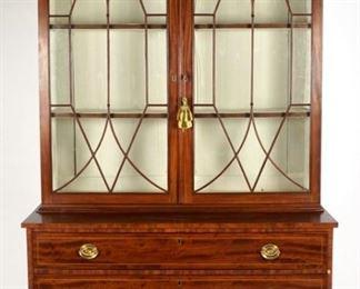 Late 18th Century American Hepplewhite Bookcase