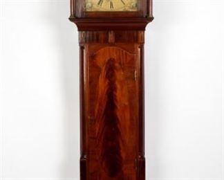 1790s American Mahogany Tall Case Clock