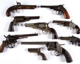 Collection of 19th C. revolvers