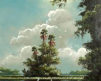 Sam Newton Florida Highwaymen Backwaters Painting
