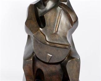 Irving Amen Musician Bronze Sculpture
