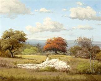 C. P. Montague Texas Hill Country Landscape