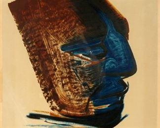 David Alfaro Siqueiros Mask Lithograph