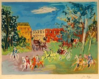Jean Dufy Bois de Boulogne Signed Lithograph