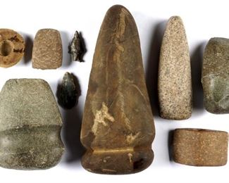 Collection of Native American Stone Artifacts