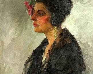 Exhibited 1925 Edith Walters Harper Portrait