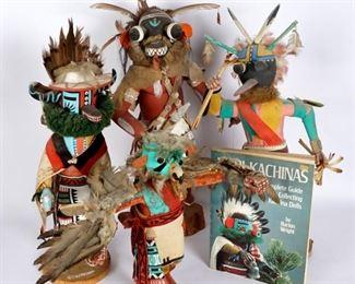 Four Hopi Kachina Dolls