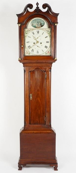 Scottish Mathewson Mahogany Tall Case Clock