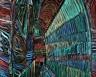Large Irving Amen Abstract Painting