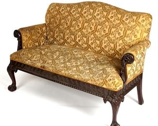 C.1900 Carved Chippendale Sofa