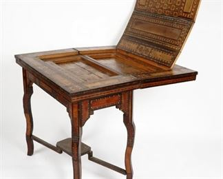 19th Century Syrian Parquetry Inlaid Games Table