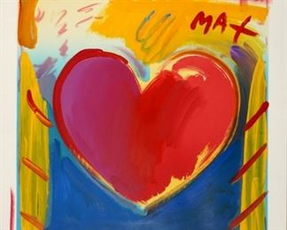 1993 Peter Max Valentine 15 Mixed Media