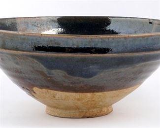 Chinese Cizhou Type Blue  Brown Bowl
