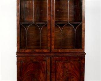 19th Century English Mahogany Bookcase
