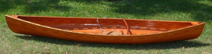 Henry Mac McCarthy Featherweight Wood Canoe