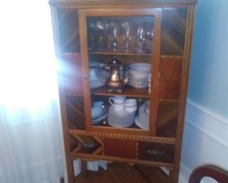 Art deco china cabinet with original hardware
