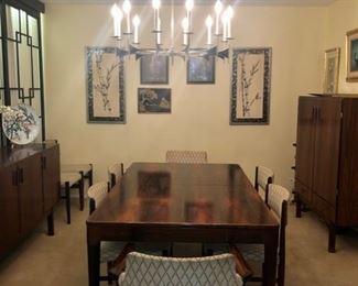 Vintage rosewood dining room set