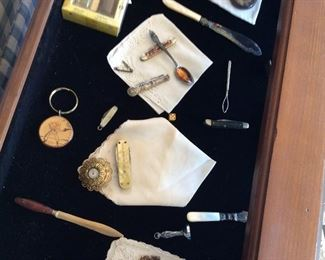 COLLECTION OF STERLING SILVER ANTIQUE PIECES