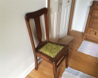 ONE OF MANY SOLID WOOD OCCASIONAL CHAIRS