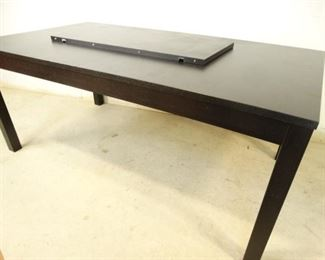 Black Dining Room Table with Leaf Extension