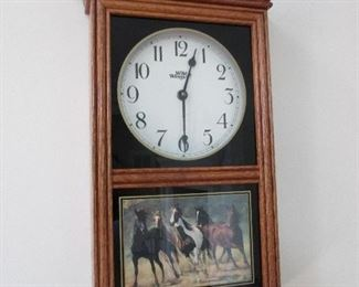 Wall Clock with horses
