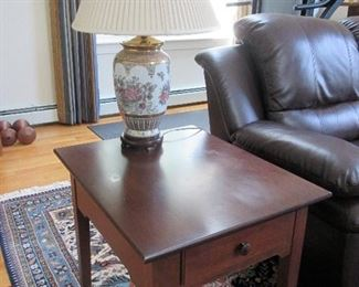 Pair End Table with Drawers