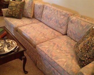 Extra long vintage sofa