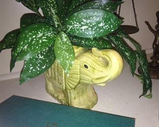 Small elephant planter