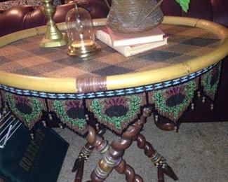 Precious MacKenzie Childs oval table