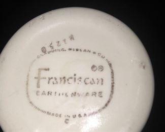 Franciscan earthenware - apple pottery