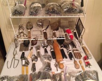 Bags of flatware and other utensils