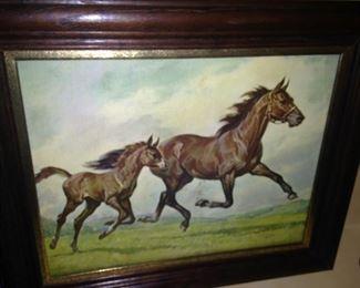 Framed horse art