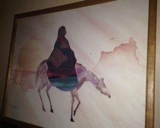Navajo watercolor print by JC Madden