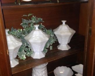 Milk glass selections