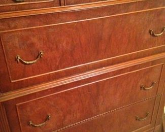 Vintage chest of drawers with lovely detailing and hardware