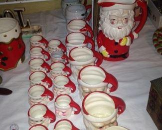Big and small Santa mugs