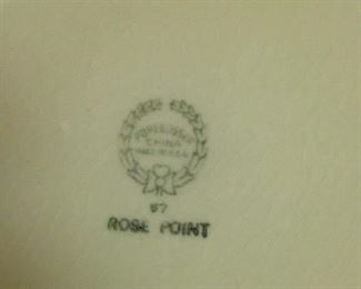 Rose Point china