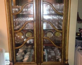 Exceptional hand painted china cabinet