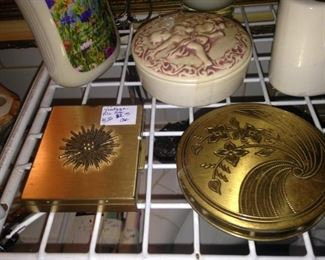 Vintage compacts and powder boxes