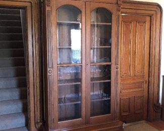 8 foot  Walnut cabinet