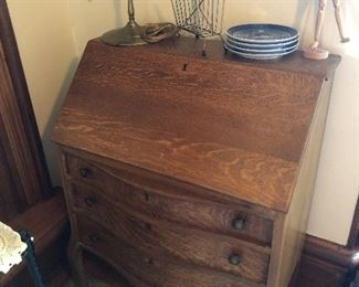 Oak  Drop front desk