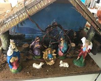 Vintage nativity set