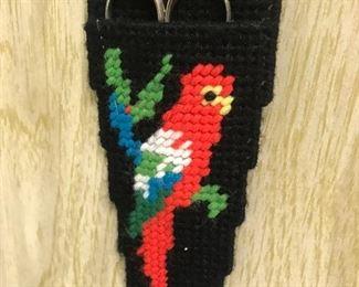 Cross stitch  scissor holder