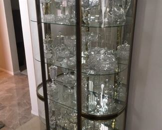 Glass Display Cabinet w/ Cut Crystal