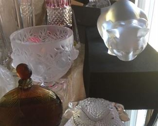LALIQUE  - Sampling of collection.  WORTH PERFUME BOTTLE SOLD
