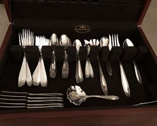 Sterling silver flatware 72 pcs.  This item will not be 1/2 thanks